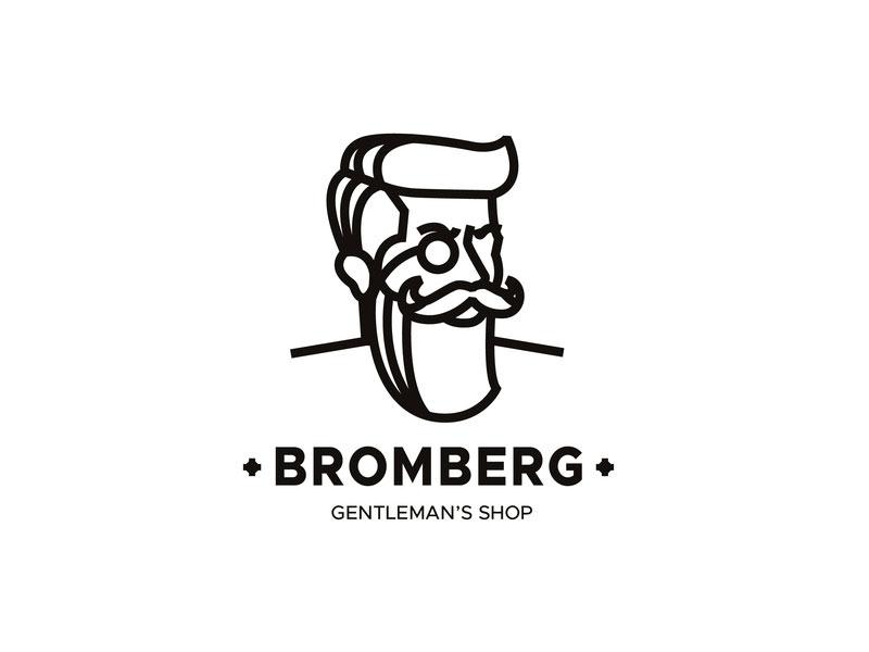 Idea de diseño de logotipo de barbería - Tienda de caballeros
