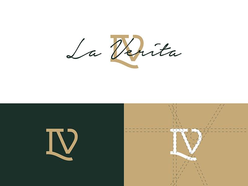 Barbershop Logo Design Idea - La Verita Logo Concept