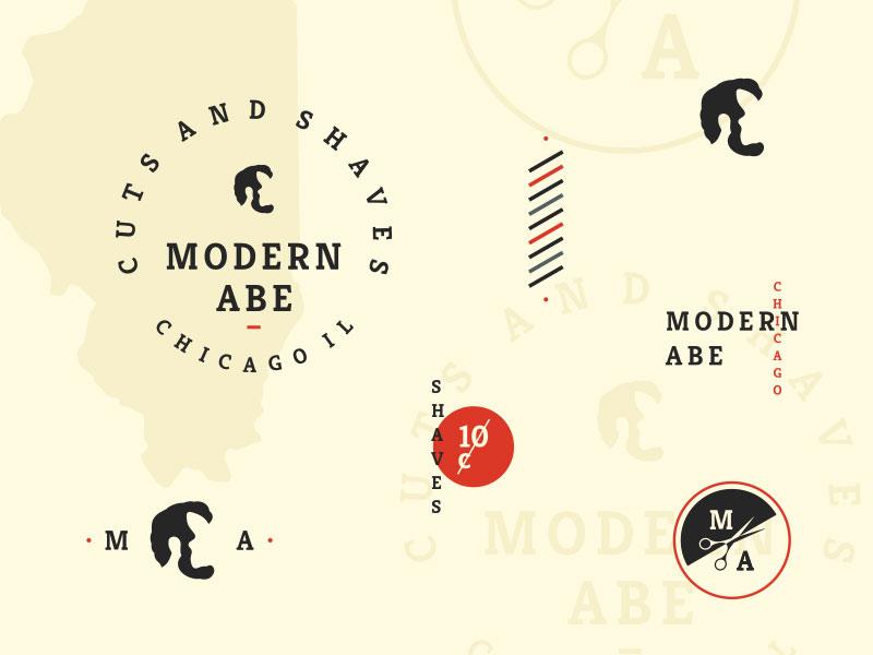Idea de diseño de logotipo de barbería - Abe moderno
