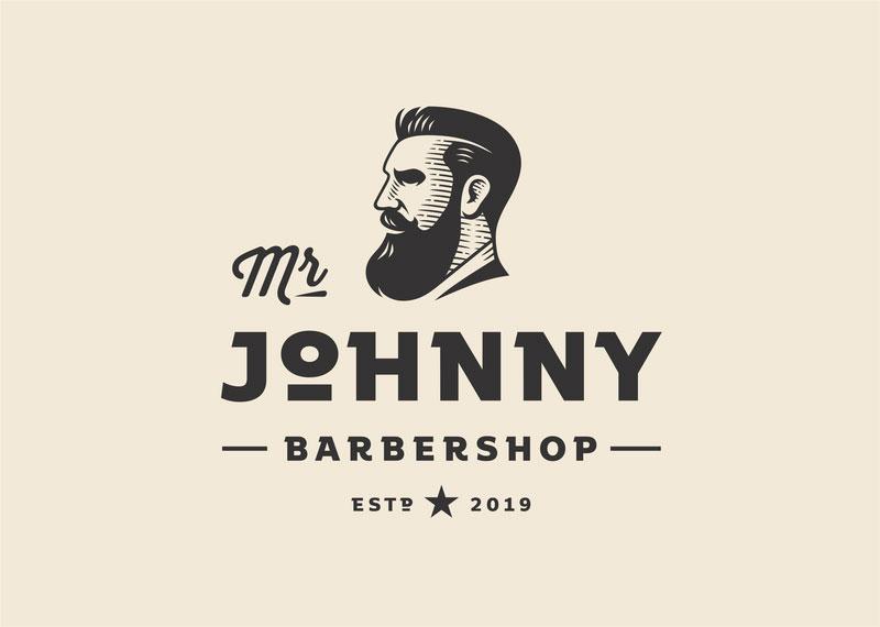 Idea de diseño de logotipo de barbería - Mr Johnny