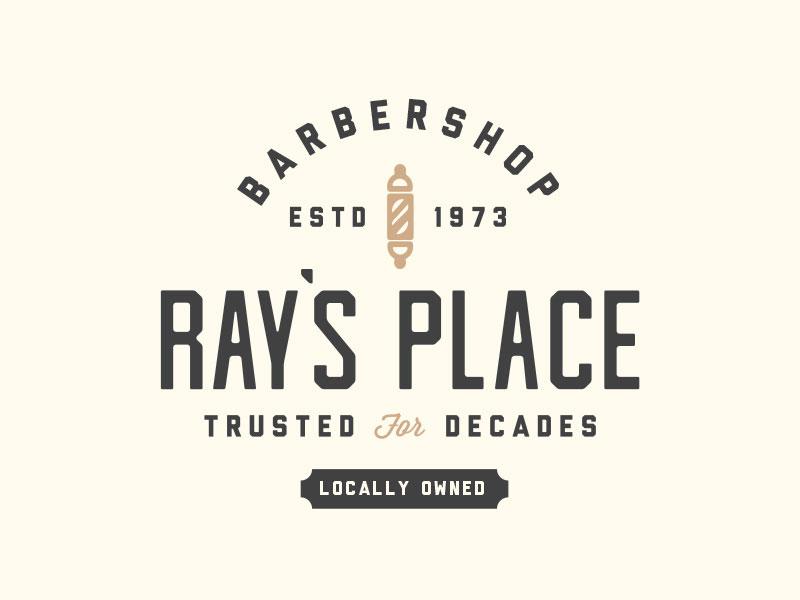 Idea de diseño de logotipo de barbería - Logotipo de Ray's Place