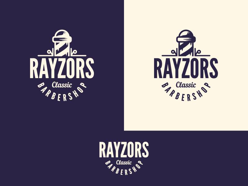 Idea de diseño de logotipo de barbería - Rayzors Classic Barbershop
