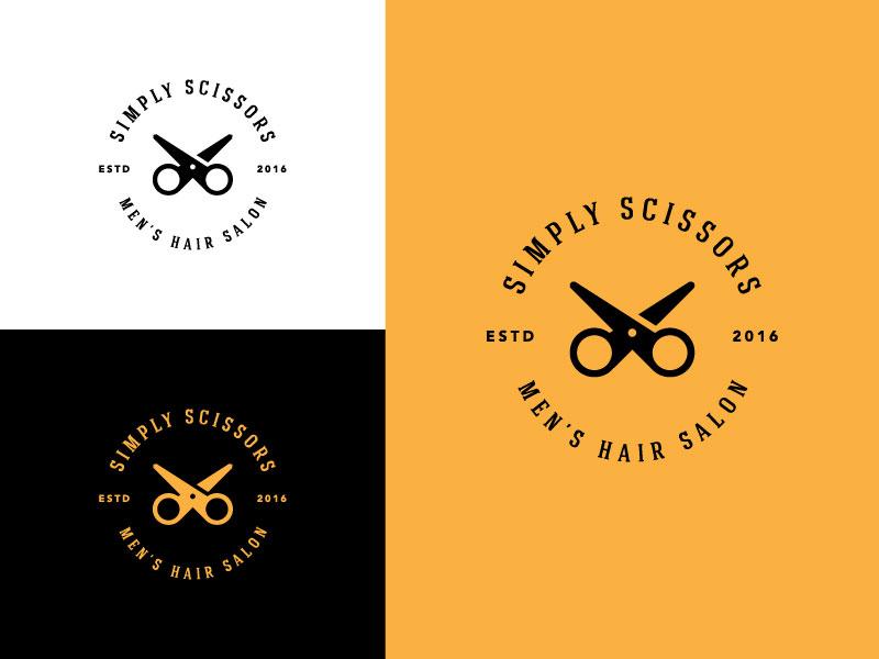 Idea de diseño de logotipo de barbería - Logotipo de Simply Scissors