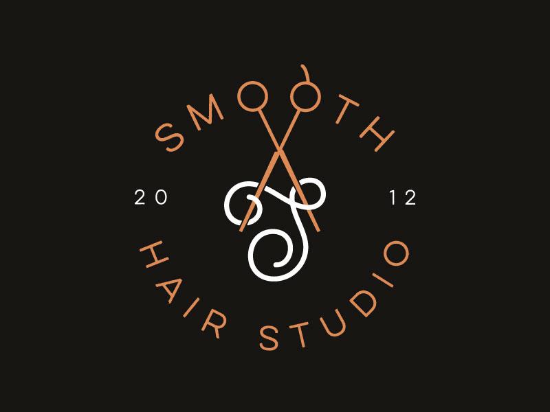 Idea de diseño de logotipo de barbería - Smooth Hair Studio