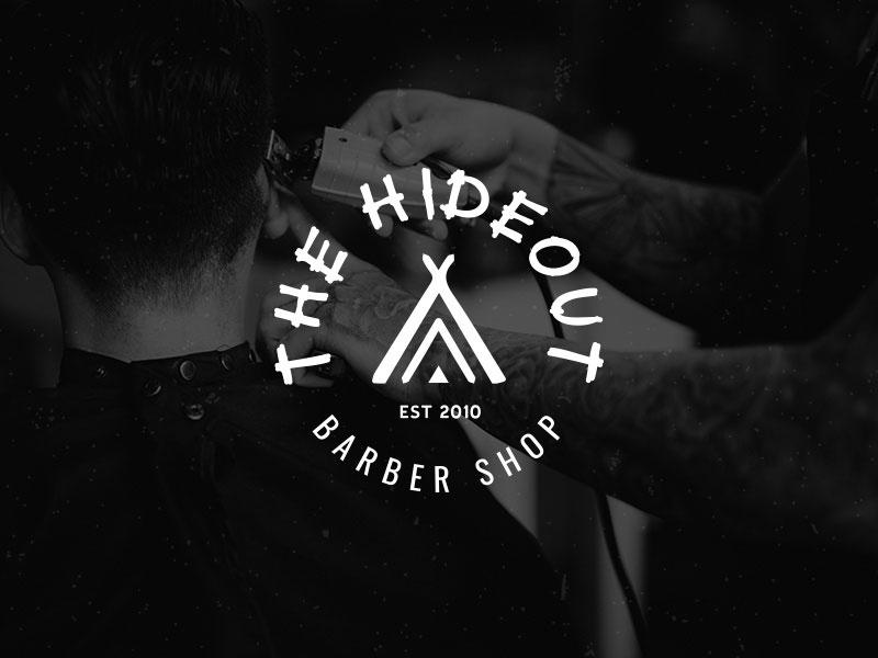 Idea de diseño de logotipo de barbería - The Hideout Logo