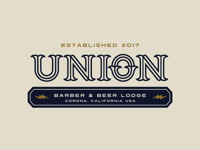 Idea de diseño de logotipo de barbería - UBBL Union Barber & Beer Lodge