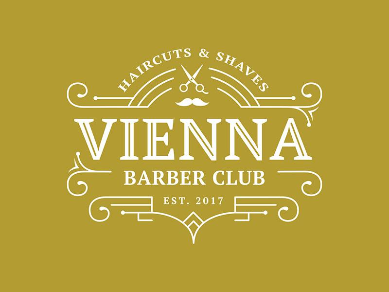 Idea de diseño de logotipo de barbería - Vienna Barber club