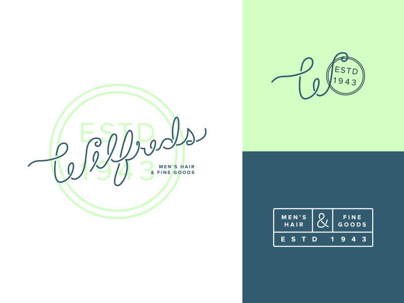 Idea de diseño de logotipo de barbería - Wilfreds