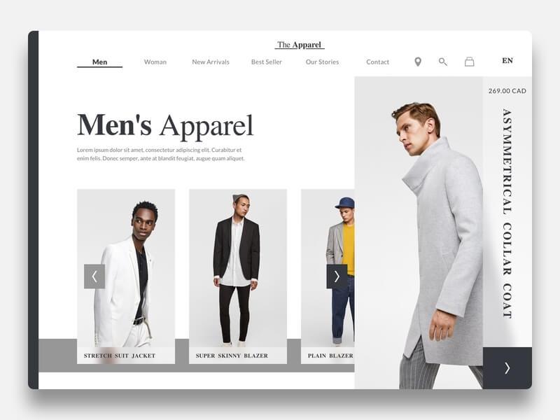 The Apparel Website