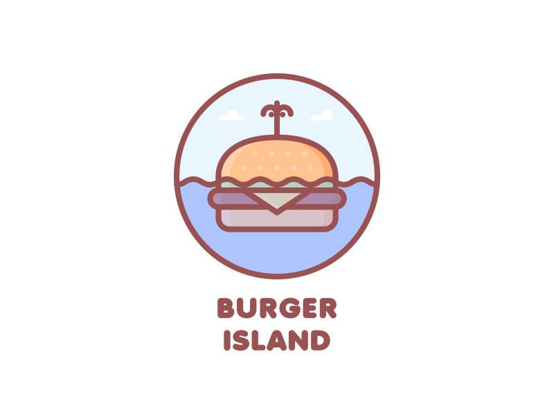 Burger Island Logo