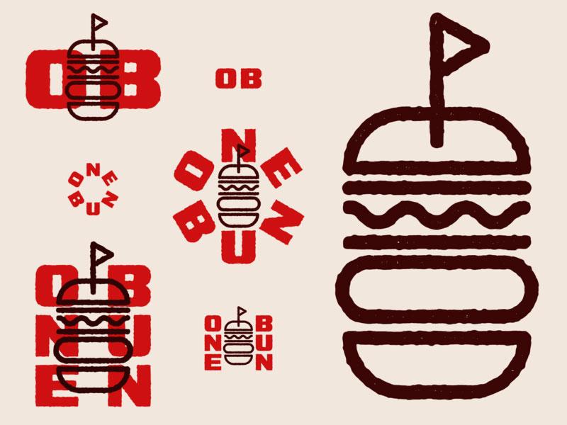 One Bun Burger Logo