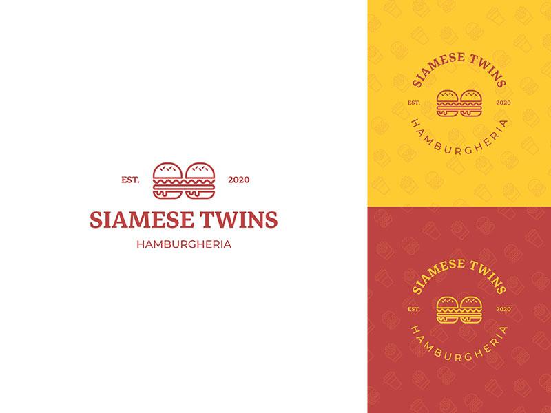 Siamese Twins - Hamburgheria Logo
