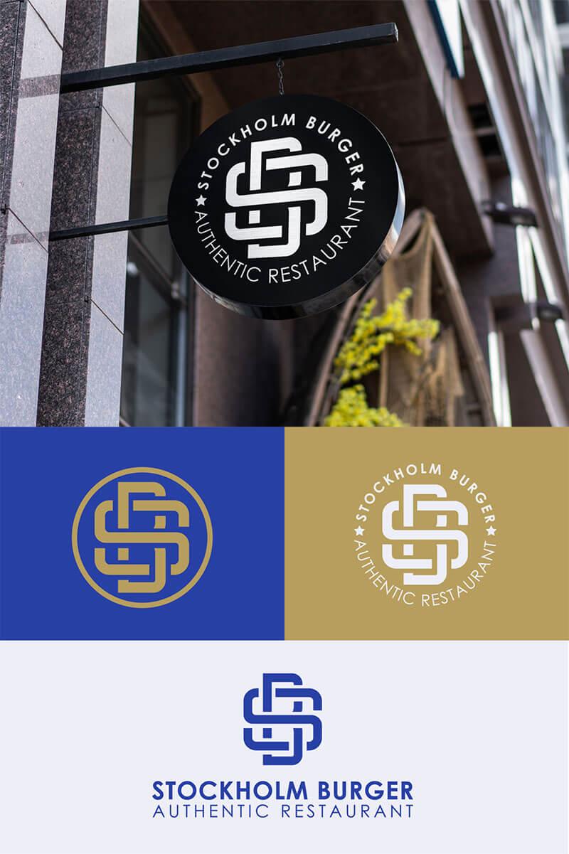 Stockholm Burger Monogram logo