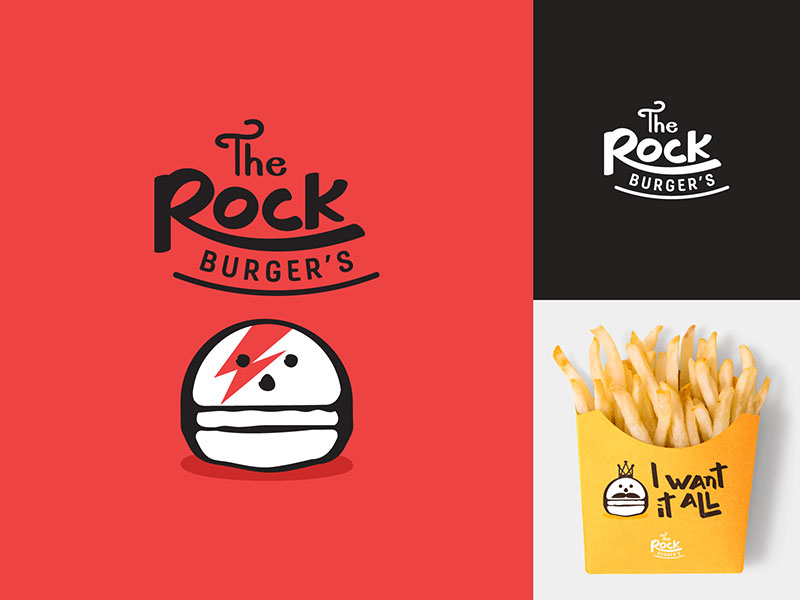 The Rock Burger's Logo
