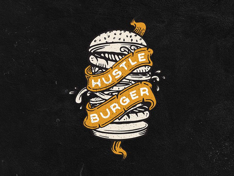 Hustle Burger Logo