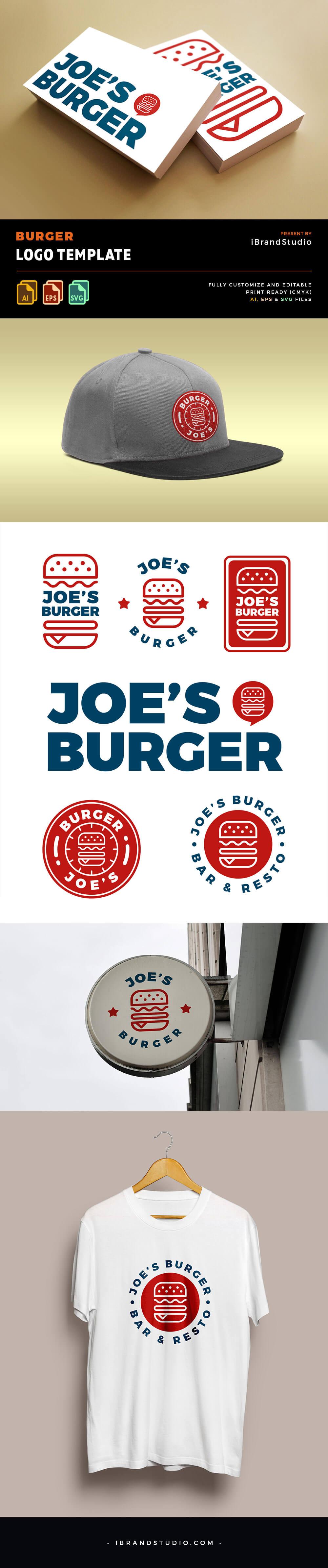 Free Burger Logo Templates