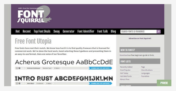 Font Squirrel - Free Fonts Website