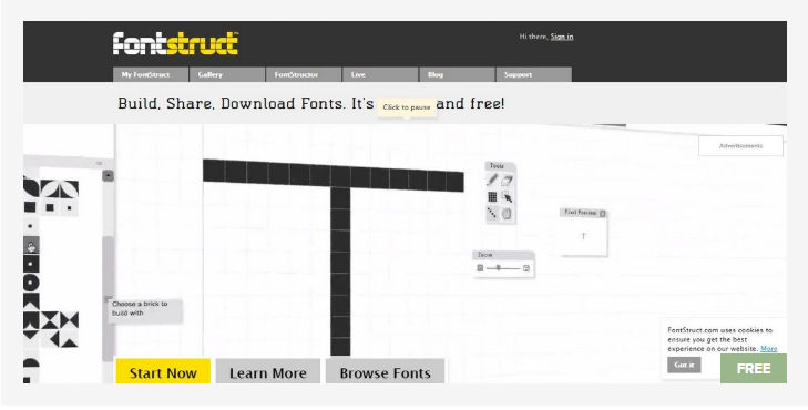 FontStruct - Free Fonts Website