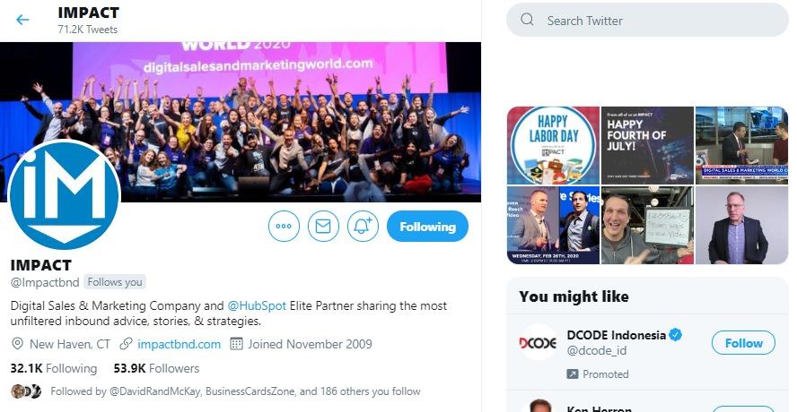 Impactbnd Twitter Account