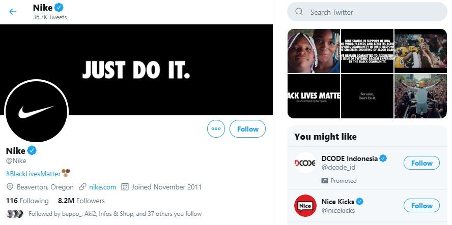 Nike Twitter Account