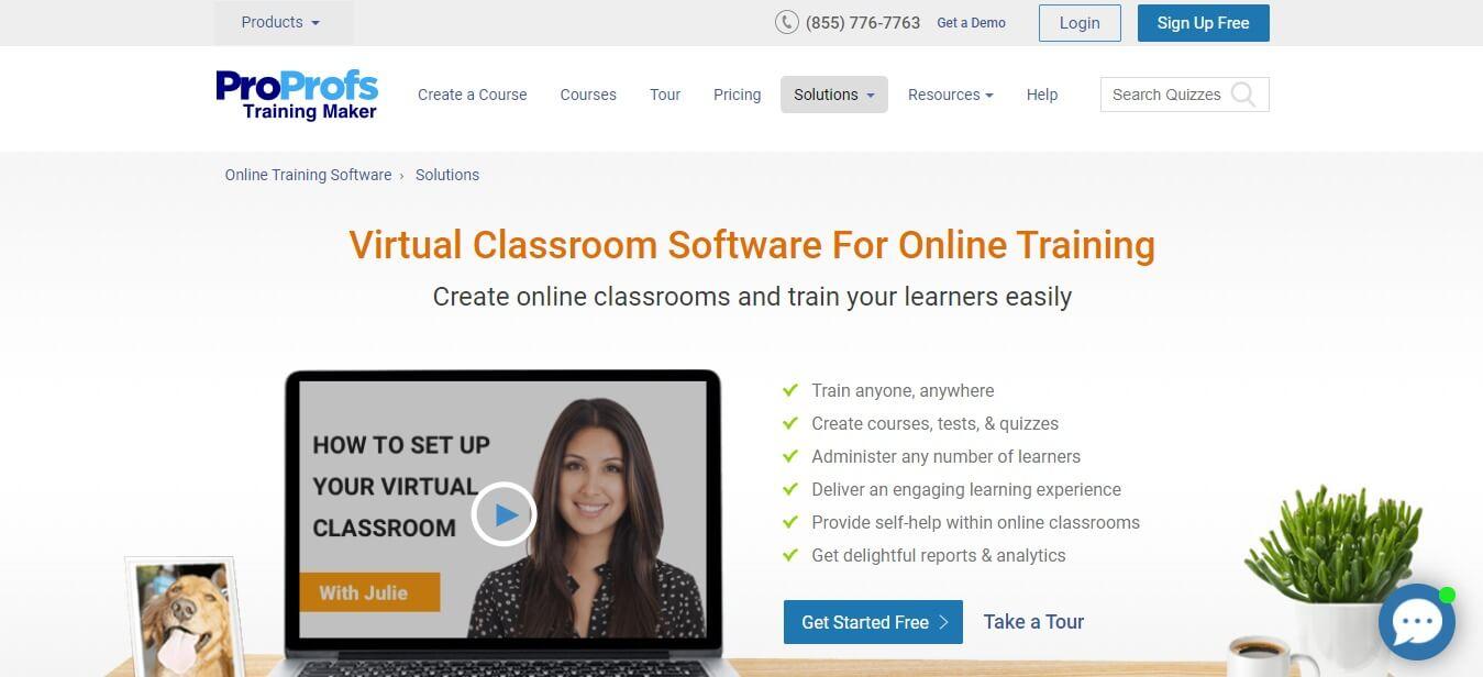 ProProfs-Virtual-Classroom-Software