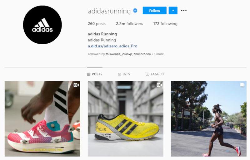 adidas-instagram-account-with-striking-logo