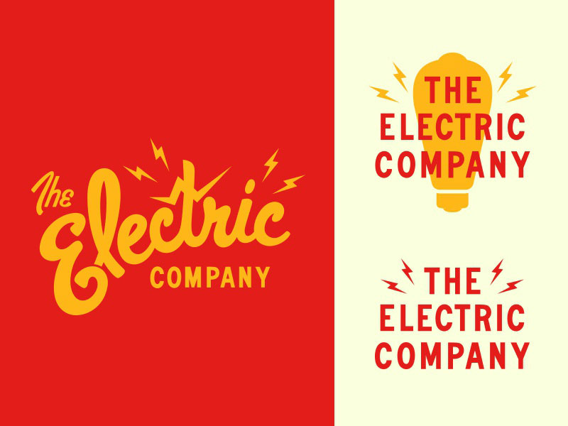 Light Bulb Logo - The Electric Company by Kira Crugnale