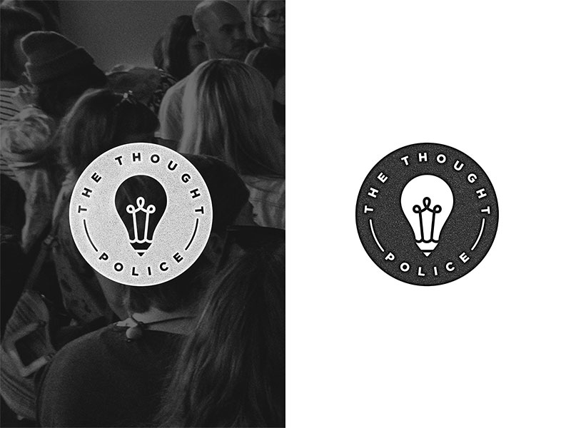 Light Bulb Logo - The Thought Police by Adam Hengstberger