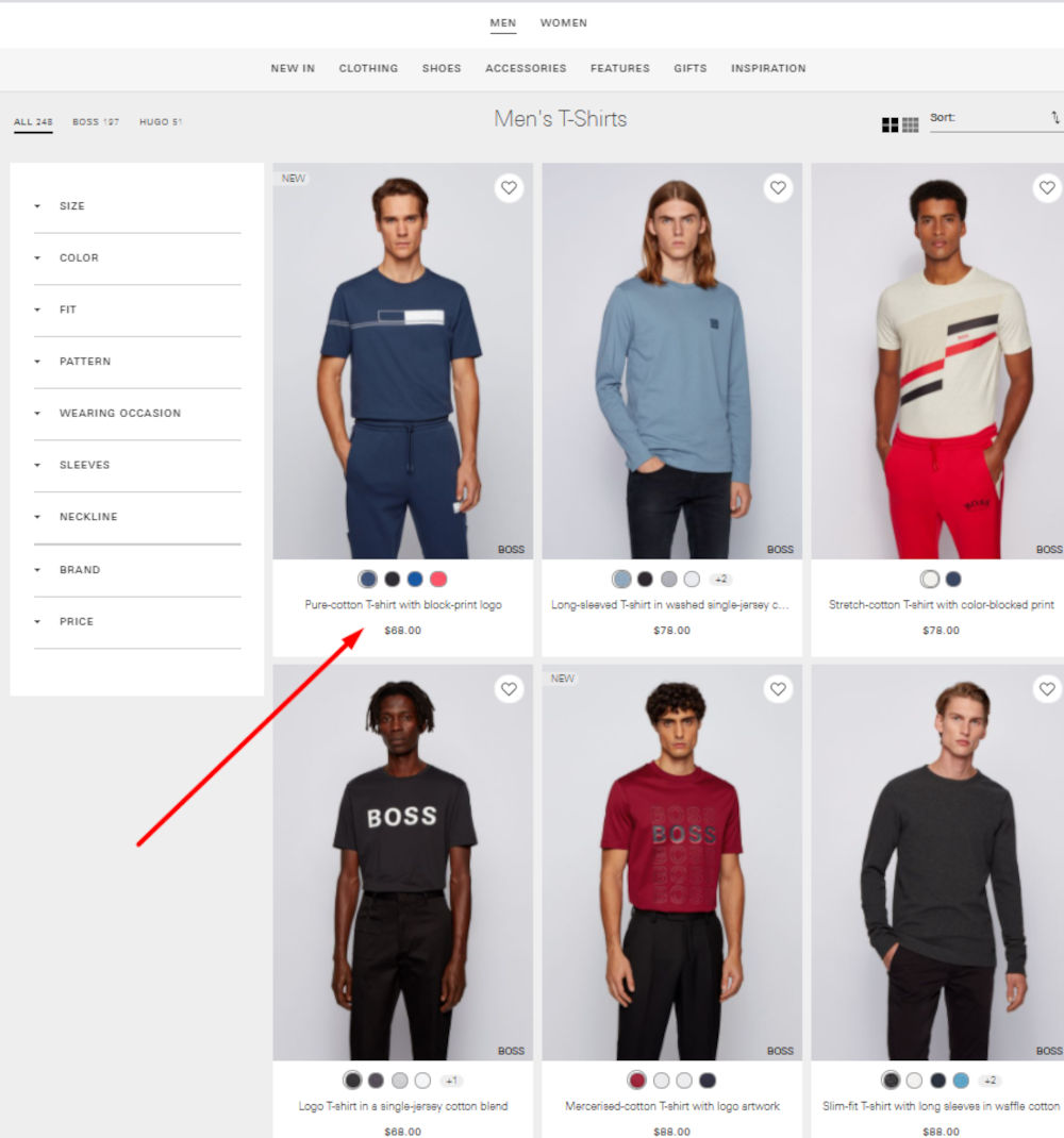 Official HugoBoss eCommerce Website