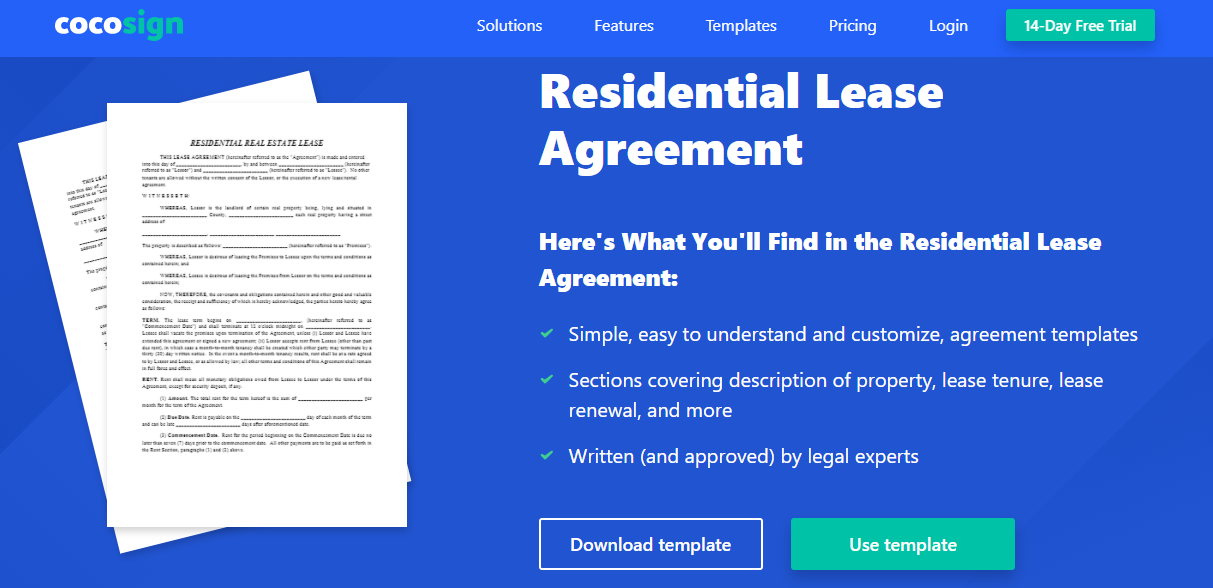Cocosign Rental Agreement Form