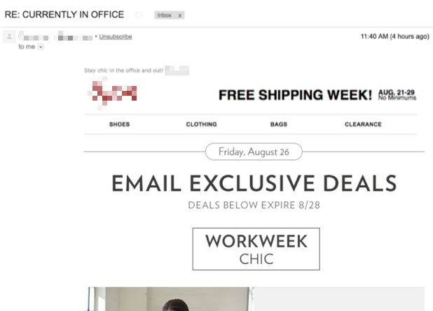 Opening Email Newsletter Example