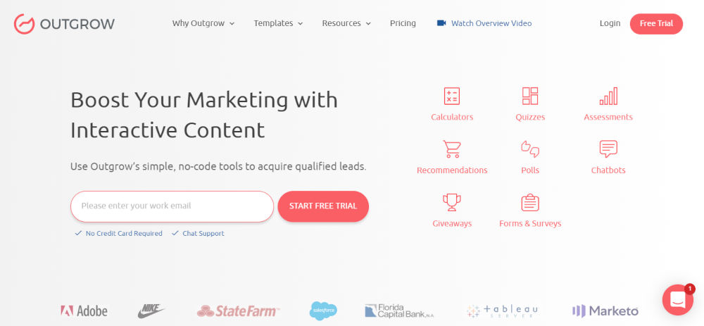 Outgrow - Best Marketing Automation Software