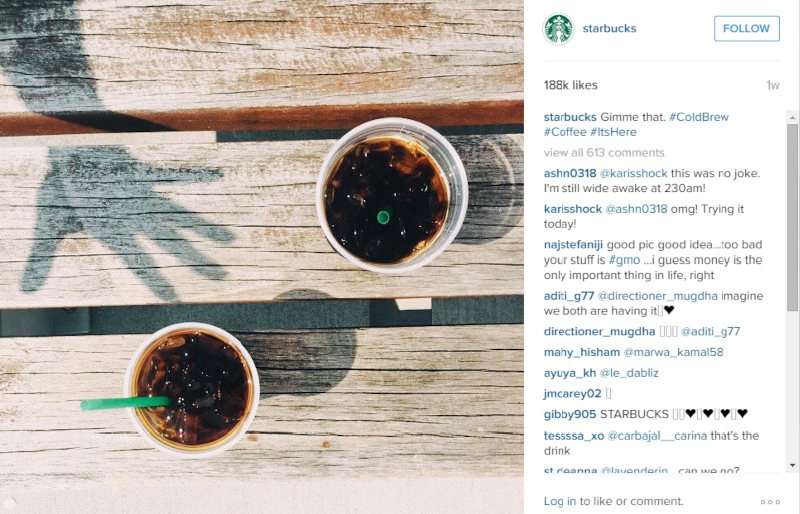 Starbucks Visual Content Marketing