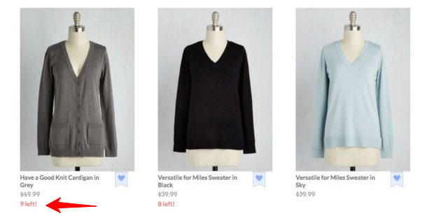 Scarcity in eCommerce Examples