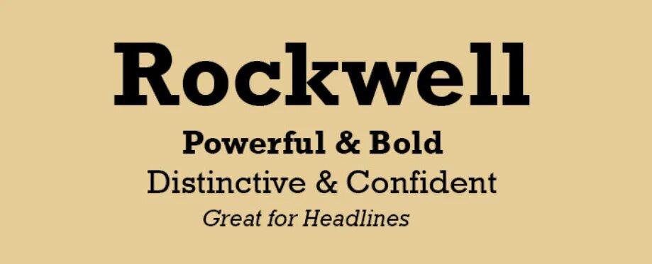 Rockwell font