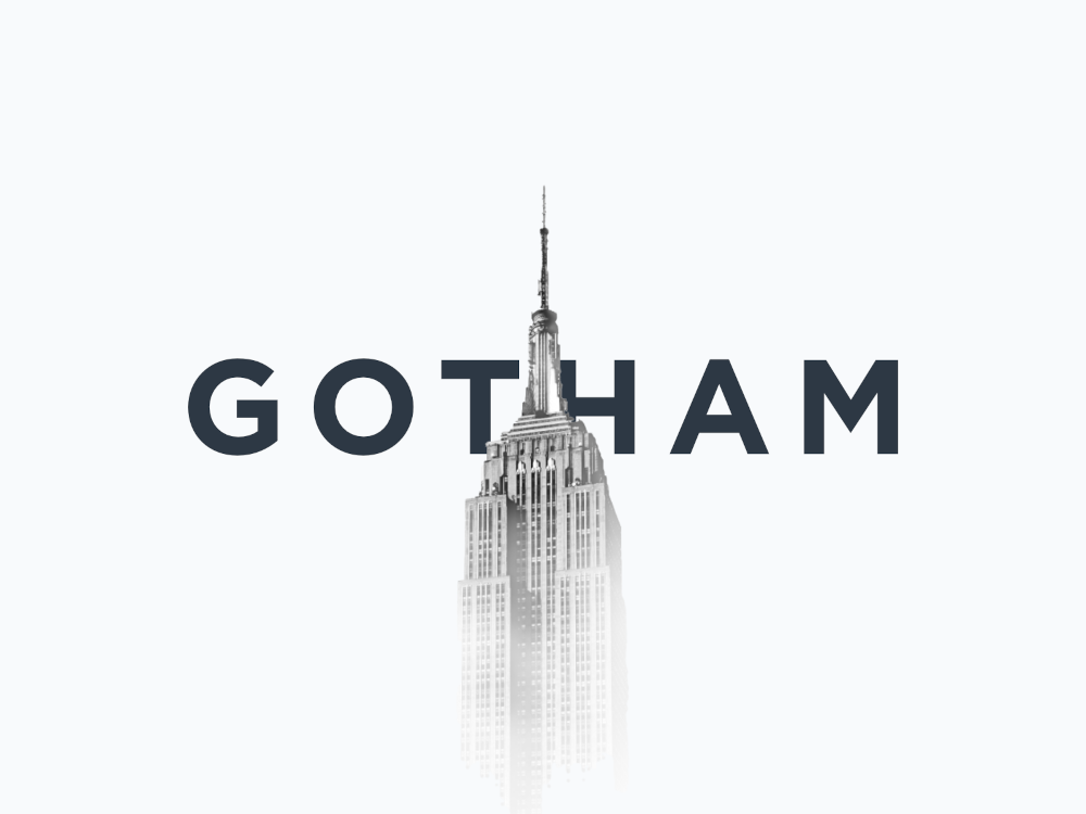 fonts used by graphic design professionals - Gotham Font