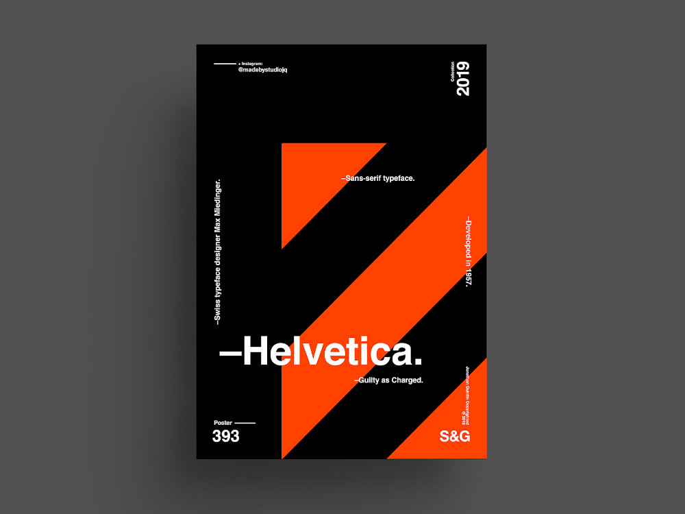 fonts used by graphic design professionals - Helvetica Font