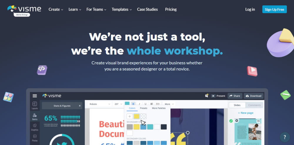Visme-Create-Presentations-Infographics-Design-Video
