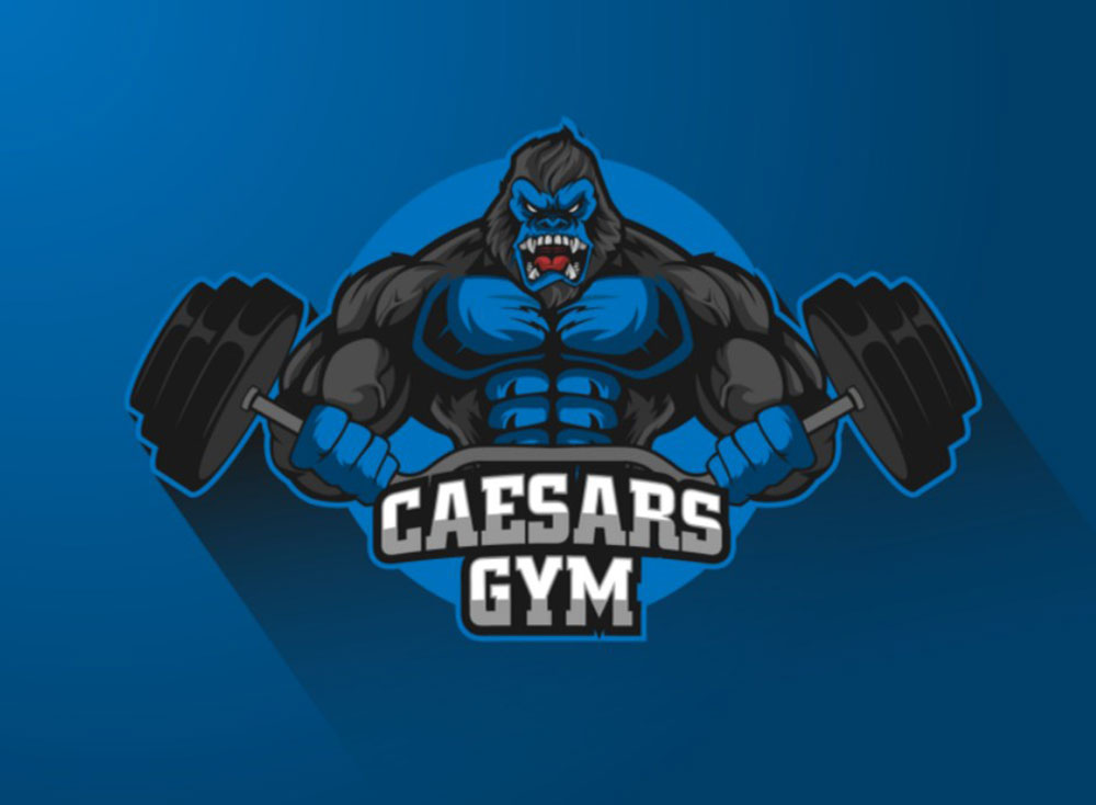 Memorable Caesars Gym Logo