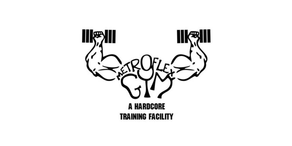 Man With Dumbbell Gym Logo Design