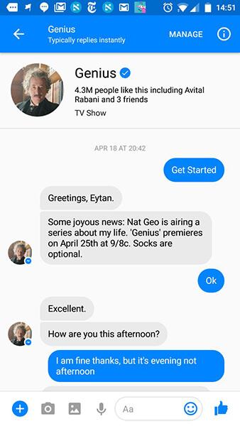 National Geographic Einstein Chatbot