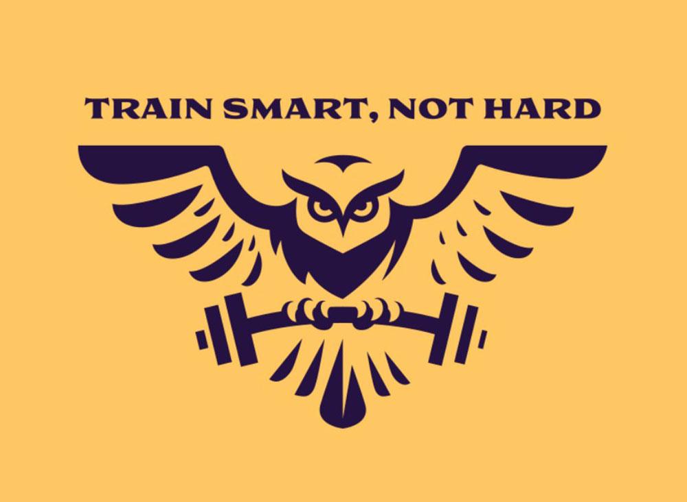 Train Smart not Hard Gym Fitness Logo