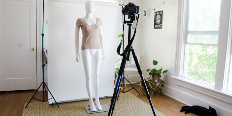 Using Tripod - Clothing Photography Tip