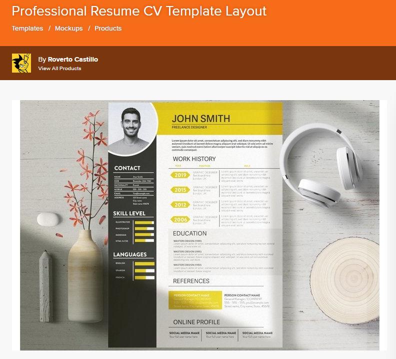 Resume Template by designbundles