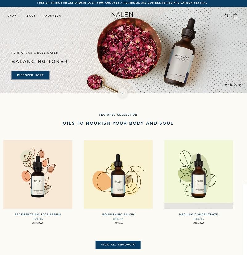 Nalen eCommerce Website